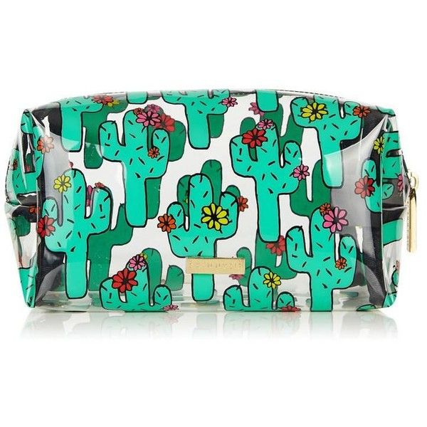 Cactus Make Up Bag ($35) ❤ liked on Polyvore featuring beauty products, beauty accessories, bags & cases, travel toiletry case, wash bag, dop kit, cosmetic bag and toiletry kits