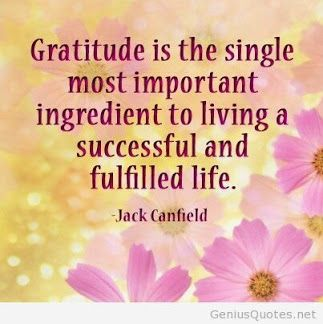 I hope you have a great day!! Always be grateful.