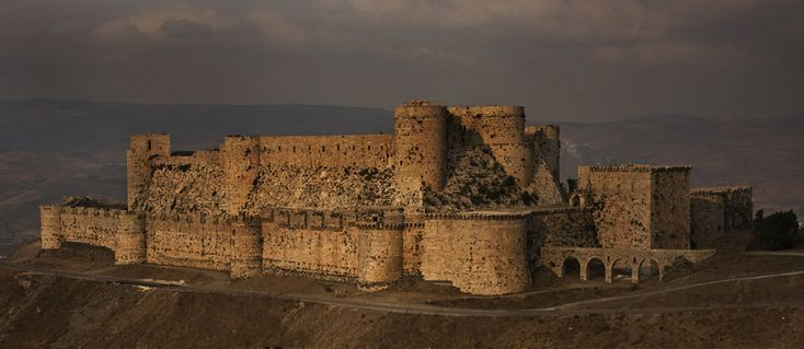 Krak des Chevaliers is a Crusader fortress in Syria and one of the most important preserved medieval military castles in the world.