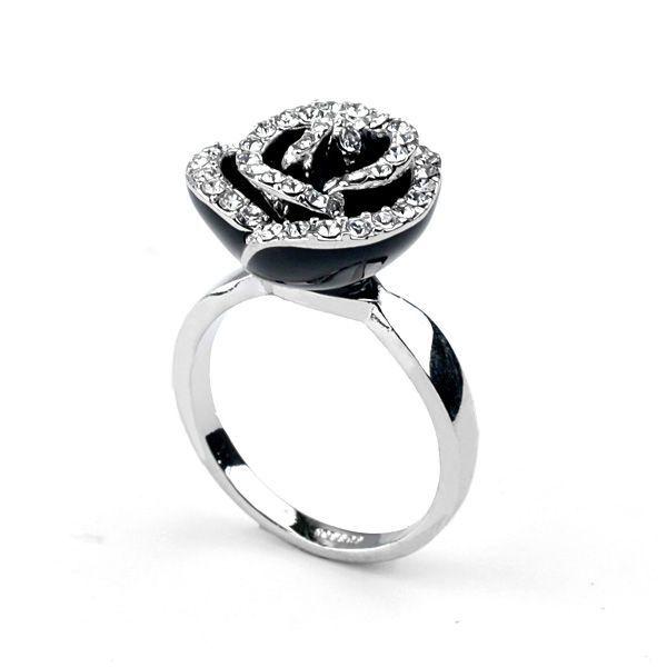 Мода ювелирные изделия новые персонализированные мода ручной алмазный розы кольцо