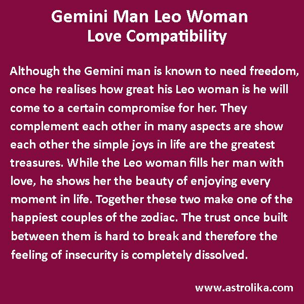 Gemini Man and Leo Woman Love Compatibility - Astrolika com | ray of