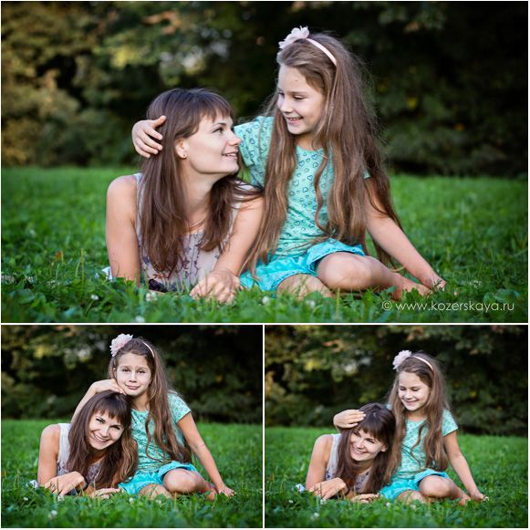 Family photosession - mother and daughter / Семейная фотосессия - мать и дочь. Детский фотограф.
