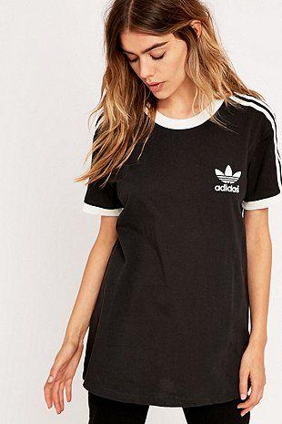 Adidas - T-shirt noir à trois bandes