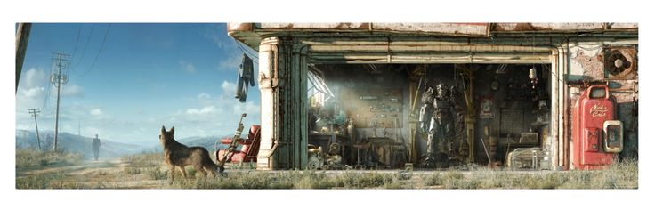 Fallout 4 Key Art Wall Wrap