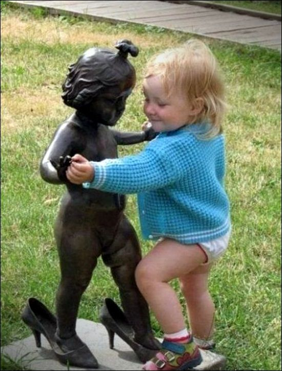 Time to dance!: Dancing, Statue, Funny, Children, Baby, Kids, Smile, Dance, Photo