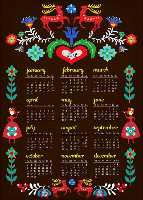 Folklore Kalender 2012 by Elisandra aka Sevenstar: 2012 Calendar, Design Calendar, Elisandra Aka, Folklore Kalender, Folkart, Folklore Kalendar, Calendar Designs, Calendar