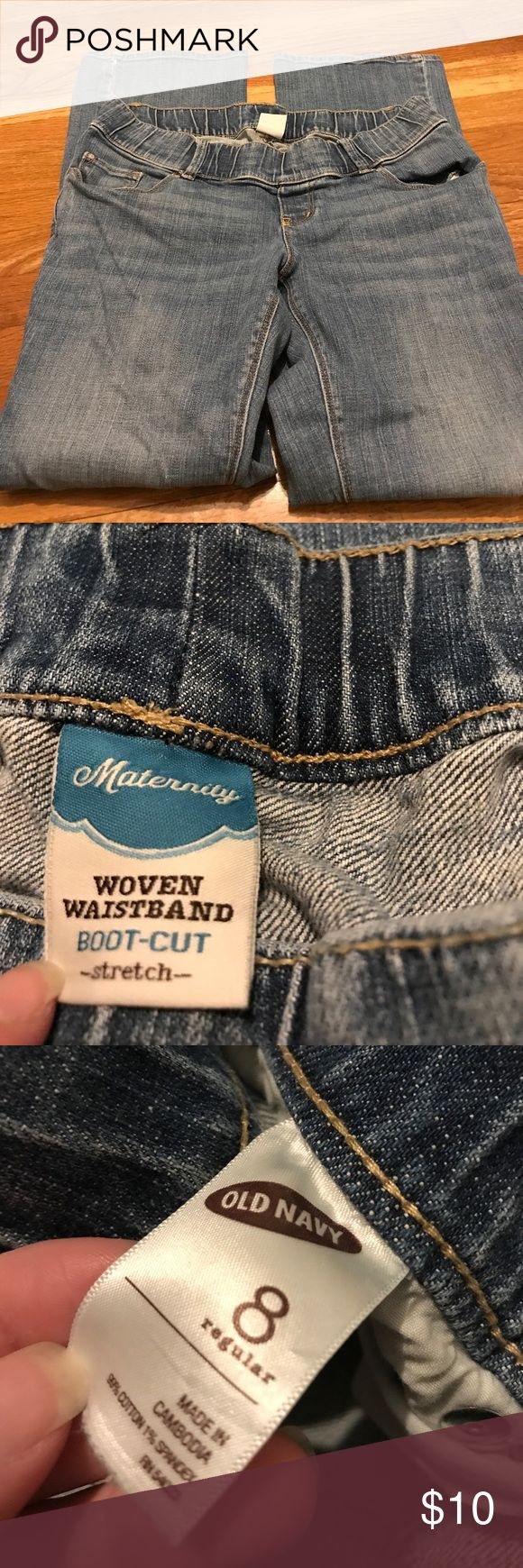 Old navy maternity jeans Old navy light wash maternity jeans. Size 8, never worn! Excellent condition! Bundle to save - I offer great discounts when bundling! Old Navy Jeans Flare & Wide Leg