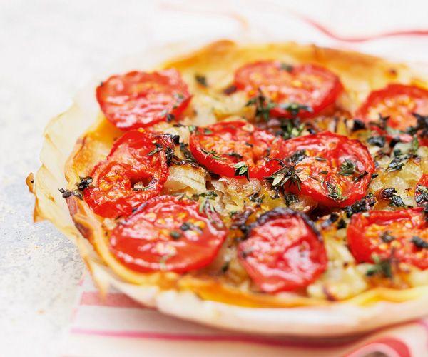 #Tartine fine aux #tomates et aux oignons pour le plus grand plaisir de nos papilles