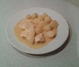Dos de cabillaud sauce beurre citron