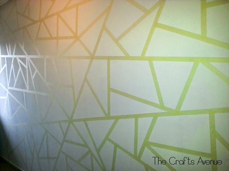 The crafts avenue: DIY Pared a triangulos!!