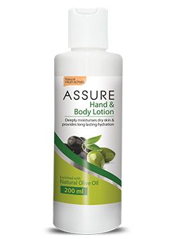 Our body, especially hands are generally exposed to harsh conditions, making them dry and even cracked. New Assure Hand and Body Lotion rebalances and restores the skin of essential moisture and glow. It maintains the skin elasticity making it soft and supple. It deeply nourishes the skin and helps restore skin's natural oils. Its soft flowery scent invigorates the senses and keeps the skin refreshed all day.