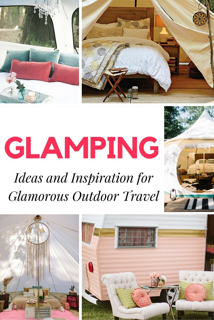 What is glamping? Glamping a fancy version of camping. Many people including myself, love to get creative with their campers and outdoor spaces.