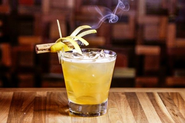 A Smokin' Variation on the Whiskey Sour