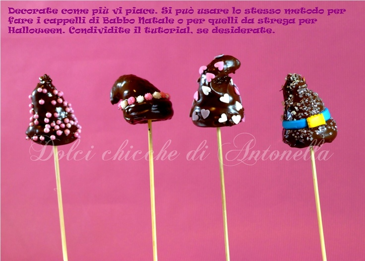 Tutorial cake pops hats hear : http://www.dolcichicchediantonella.com/tutorial/
