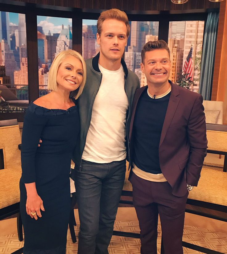 Here are some NEW Pics of Sam Heughan on LIVE With Kelly and Ryan More after the jump!