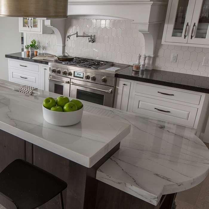 Calacatta Colorado Natural Stone Marble Slab Arizona Tile Pennsylvania Pad In 2019 Calacatta Kitchen Design Marble