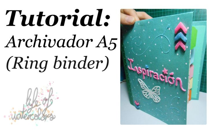tutorial: archivador A5 (ring binder) - YouTube