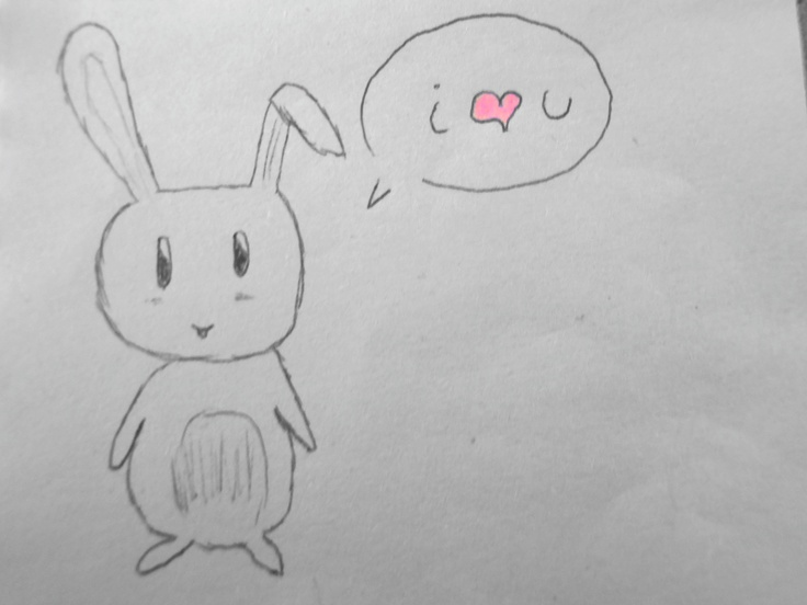 a cute manga rabbit