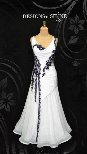 B14273 Midnight in White | Designs to Shine