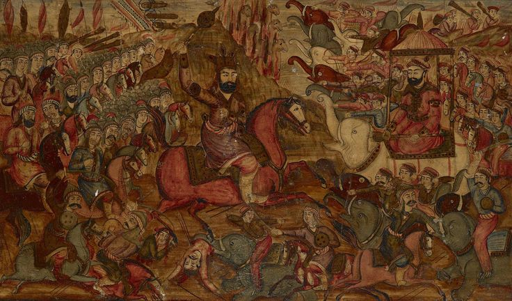 The Battle between Nader Shah and the Mughal Emperor Muhammad Shah
