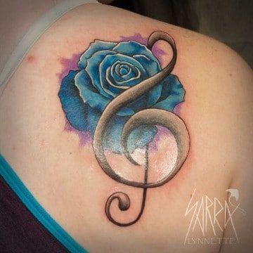 tatuajes de signos musicales para mujeres