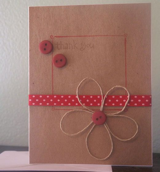 Diy Birthday Card Ideas Card Craft Buttons Twine And