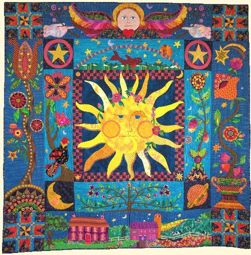 Susan powell s celestial dreams quilt glorious colour for Celestial pattern fabric
