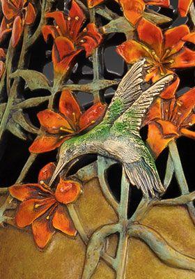 black-chinned hummingbird close-up, Celestial Joy, www. allemanstudios.com
