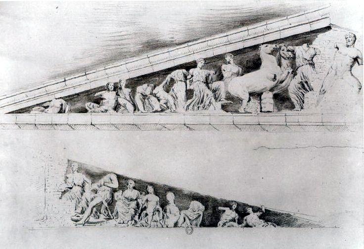 Μελέτη των γλυπτών του Παρθενώνα. Ανατολικό αέτωμα