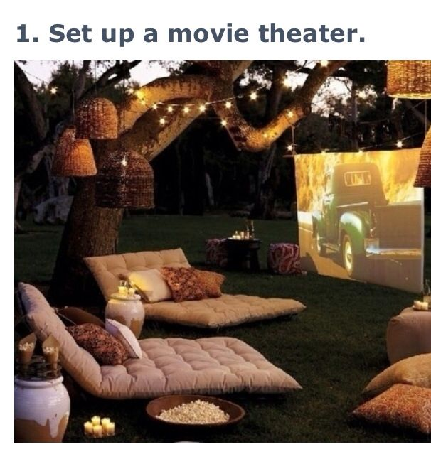 What a fun idea to do with your family on a summer night. Summer fun movie theater. #thebucketlistlife