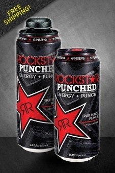 Rockstar Energy Drink Punched