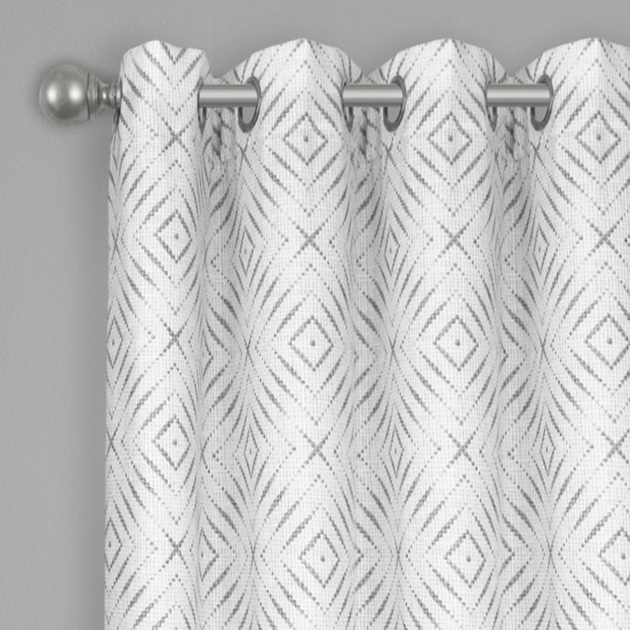 Bastille Geometric Grommet 100 Blackout Window Curtain Panel