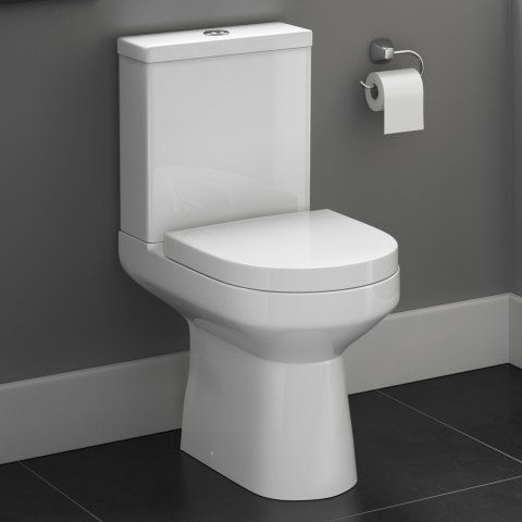 Cesar III Close Coupled Toilet & Cistern inc Soft Close Seat [PT-CT623CCT] - £199.99 : Platinum Taps & Bathrooms