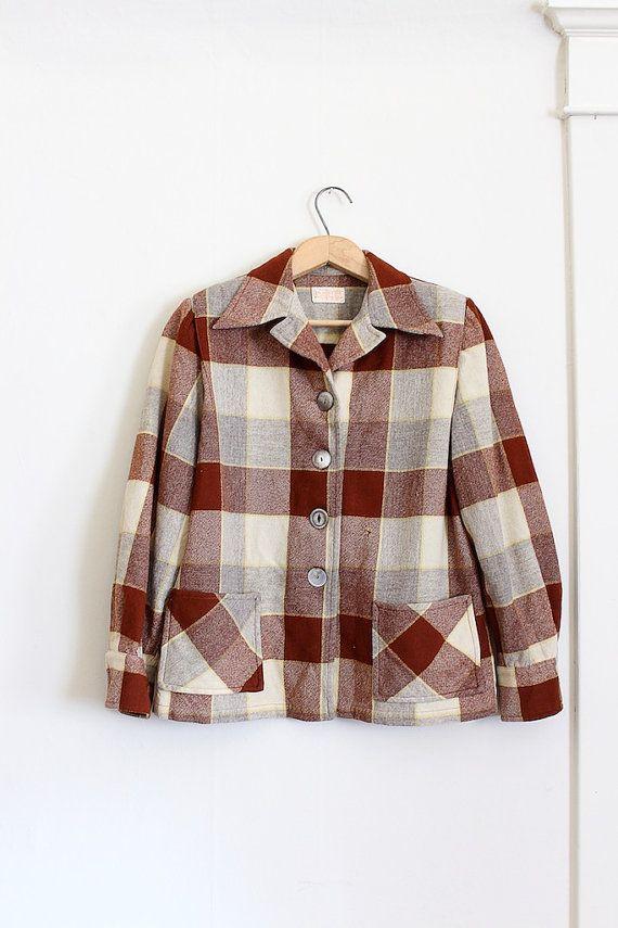 Plaid coat for women