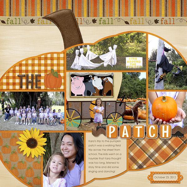 my daughter's pumpkin patch field trip #digiscrap