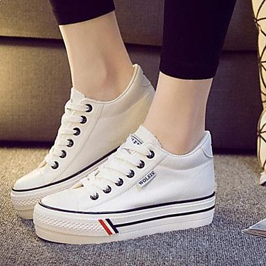 Women's Shoes Canvas Increased Within Flange Leisure Platform Comfort / Round Toe Fashion Sneakers Outdoor / Athletic 4848098 2017 – $22.49