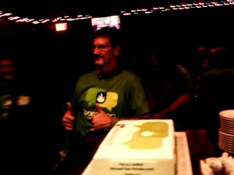 Stan Schultes' birthday at our 6 Sept 2012 After Hours