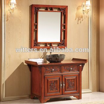 Attractive Chinese Style Vintage Traditional Bathroom Vanity,Top Imported Oak Antique Handmade  Bathroom Furniture Wts809   Buy Bathroom Vanity Cabinets,Waterproof ...