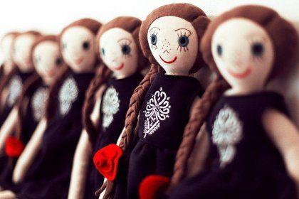 Lalanka - polska lalka przytulanka, ręcznie szyta.