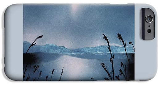 Moon Fog IPhone 6s Case Printed with Fine Art spray painting image Moon Fog by Nandor Molnar (When you visit the Shop, change the orientation, background color and image size as you wish)