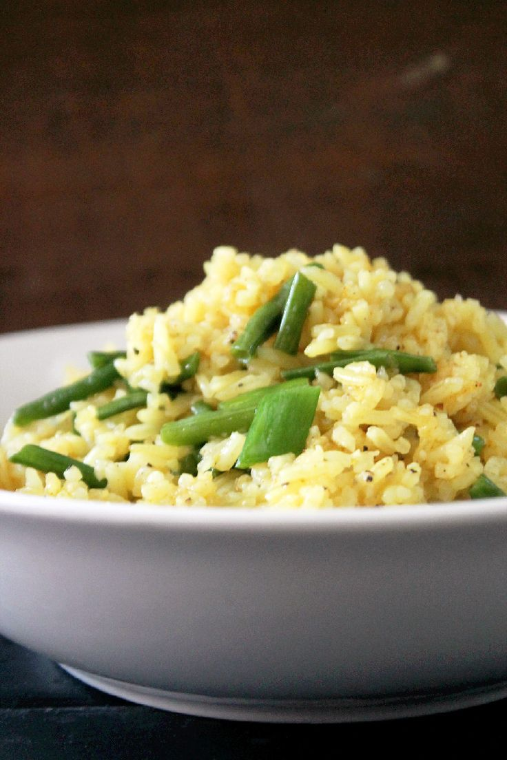Indian Fried Rice with Green Beans