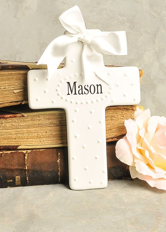 71 best christening gifts images on pinterest christening gifts personalized porcelain wall cross christening gift baptism gift negle Gallery