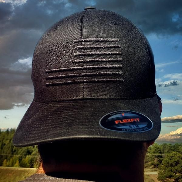 Black Us Flag Flexfit Hat Proudly Sewn On By A Usmc And Army Veteran American Flag Hat Black American Flag Hat Black American Flag