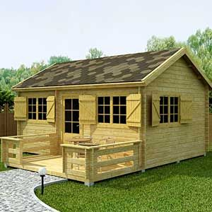Look at this light brown timber house, it's sheer beauty, it's strong and smartly engineered. It is comfortable above all :-)