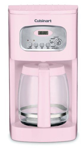 WANT!!! Cuisinart DCC-1100PK 12-Cup Programmable Coffeemaker, Pink $57.20 Check out the website to see more