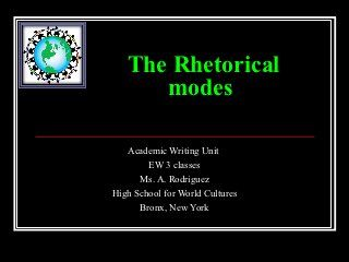 rhetorical modes quiz University of phoenix material rhetorical modes quiz complete the following chart to identify the purpose and structure of the various rhetorical modes used in academic writing provide at least two tips for writing each type of rhetorical device.