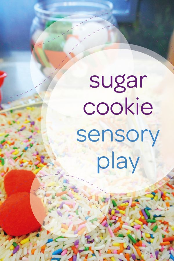 Fill your home with the smell of vanilla using this DIY sugar cookie sensory activity. Mix colorful sprinkles with plain rice and sugar cookie fragrance oil to create the base of this easy sensory activity. Then, let your toddler explore the different textures and smells as she scoops, dumps, and mixes the rice. You can even add some small toys to the mixture for even more sensory fun.