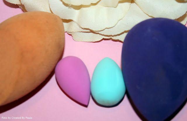 Cadeautip: lowbudget Mini Make-up spons in ei-vorm...