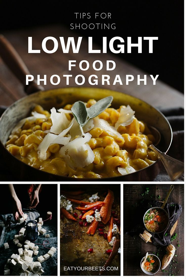 Tips for shooting low light food photography. Ever wondered how to get moody, dramatic images? This post helps you learn how!