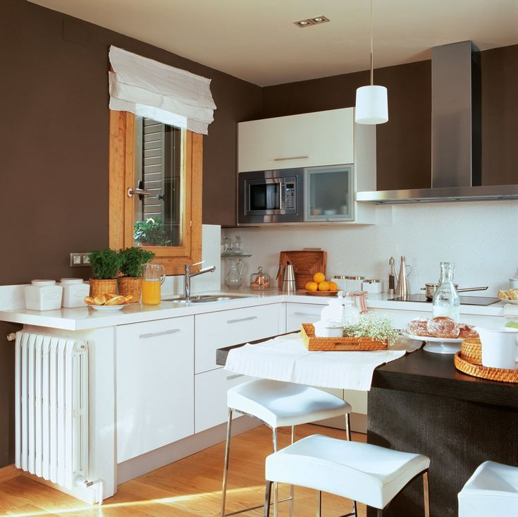 1000 ideias sobre paredes marrons no pinterest paredes for Cocinas super pequenas